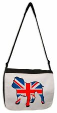 BRITISH BULLDOG UNION JACK MESSENGER BAG - Great Britain UK United Kingdom