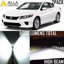 Alla Lighting LED High Beam Headlight Headlamp White Light Bulb Lamp for Honda