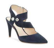 Louise et Cie Women's Shoes, Jara Leather Stiletto Pumps, Dark Blue  - Size 8M