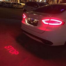 Car Auto red LED Laser Fog Light Anti-Collision Taillight Brake Warning Lamp NEW