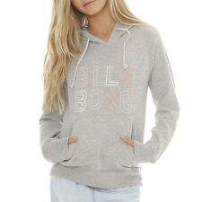 "NEW + TAG BILLABONG ""JUMPIN"" GIRLS (8) HOODIE JUMPER FLEECE PULLOVER GREY MARLE"