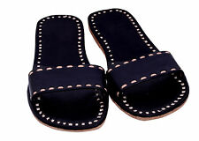 Black slippers womens slippers sandals shoes leather slippers handmade sandals