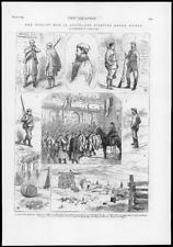 1874-Antiguo Impreso España Guerra Carlista Bilbao berrets Garrison St. Monica (248)