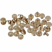 20 x Flat Button Stud Screwback 10x4x8mm Leather Rivet Belt Screw Chicago Nail