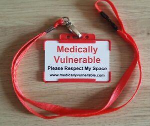 Medically Vulnerable Card & Lanyard