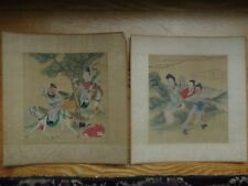 2 ORIENTAL WATERCOLORS ON SILK SIGNED