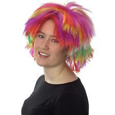Women's Sexy Multi Colour Wig Punk Rocker Style Fancy Dress Full Wig
