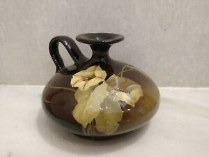Weller Pottery Louwelsa Glaze Jug Vase Raised Jasmine Trumpet Flower Vine
