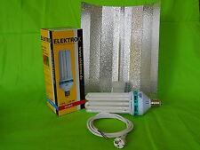Elektrox Sparset 125 W Dual Energiesparlampe + Reflektor + Kabel ESL Set grow