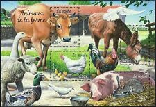 2004 FRANCE BLOC N°69** BF Animaux de la ferme,  Farm Animals Souvenir Sheet MNH