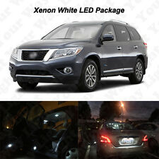 11 x White LED Interior Bulbs + License Plate Lights For 2013-2016 Pathfinder