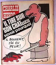 """Charlie Hebdo N°415 du 26/10/1978; """"Il tir sur son chat sans savoir pourquoi"""""""