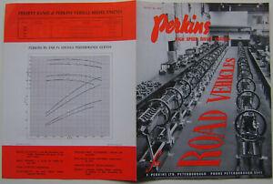 Perkins High Speed Diesel Engines Road Vehicles Original Brochure P3 P4 P6 4020