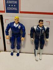 Cops N Crooks Action Figures Lot Bullseye Longarm Hasbro 1988