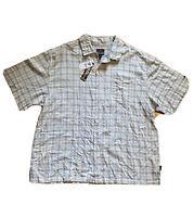 NWT FUBU Mens Shirt Yellow White Blue Plaid Button Down Short Sleeve Size 3X
