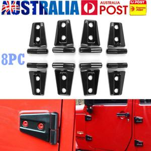 8X Door Hinge Cover Exterior Trim Accessories Protector for 07-17 Jeep Wrangler