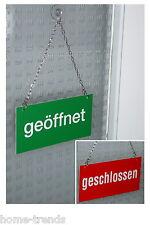 Geöffnet-Geschlossen-Open-Closed-Alu-Wendeschild-20 x 10 cm-Türschild-Schild