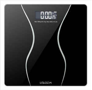 Digital Bathroom Scale, Highly Accurate Body Weight Scale, 397 lb, Black