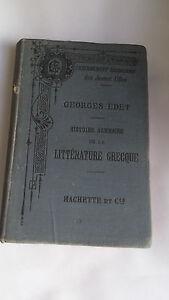 Georges Edet – Histoire de la littérature grecque – Hachette 1887
