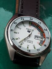 RAILWAY TIME SEIKO 5 AUTOMATIC   MEN S  WATCH  beautiful