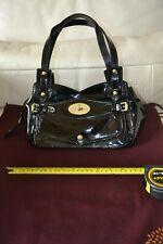 Mulberry bag SMITHFIELD vintage black patent shoulder handbag tote with dustbag