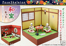 RE-MENT Dollhouse Miniature Pose Skeleton Japanese Room Set
