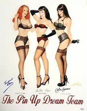"'The Pin Up Dream Team' Giclee Featuring Claire Sinclair 17""x22"" Signed Lorenzo"