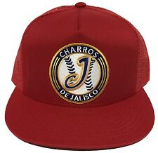 CHARROS DE JALISCO MEXICO HAT MESH TRUCKER RED SNAP BACK NEW HAT