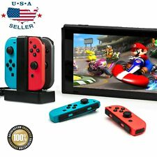 4 Port Controller Charger Charging Dock Station Fit For Nintendo Switch Joy-con