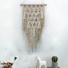 Macrame Woven Wall Hanging Tapestry Handmade BOHO Chic Bohemian Art Wall Decor