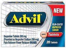 Advil Film-Coated Ibuprofen 200 mg Tablets 20 ea