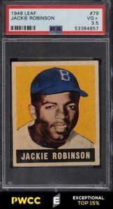 1948 Leaf Jackie Robinson ROOKIE RC #79 PSA 3.5 VG+ (PWCC-E)
