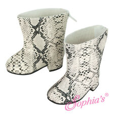 "Snakeskin Boots Western Cowboy Boot fits 18"" American Girl Doll Shoes"