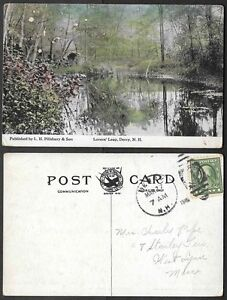 1916 New Hampshire Postcard - Derry - Lovers' Leap