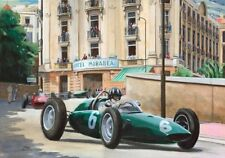 Print on paper Graham Hill (GBR) in his BRM P57 wins Monaco 1963 Nagtegaal (OE)