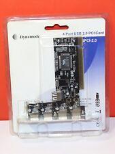 DYNAMODE 4 puertos USB 2.0 Tarjeta PCI
