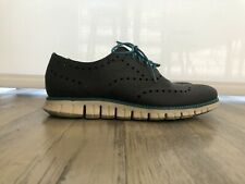 Mens Cole Haan ZeroGrand Wingtip Fashion Sneakers Gray Leather Size 10 M