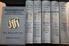 Bergbau Der Grubensteiger 5 Bände mit Tafelband ca. 1910 Steiger Bergmann Kohle