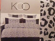 BN Wild Thing BLACK/GREY Faux Silk Leopard Print QUEEN Quilt Cover Set KOO