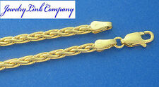 "14K Solid Yellow Gold 2.8mm Round Wheat Chain 20"" B-080 18.9gr"