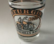Motorcycle - Shot Glass - 2000 Sturgis Black Hills Rally