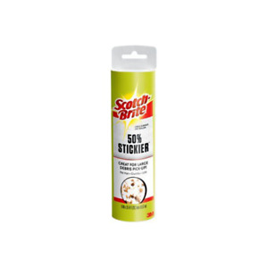Scotch-Brite 50% Stickier Large Surface Lint Roller Refill 830LSRFS-60, 8 in x