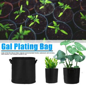 Black Fabric Grow Pots Breathable Planter Bags 1/2/3/5/7/10/15/20 Gallon Bags