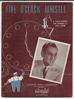 1940 GLENN MILLER Sheet Music FIVE O'CLOCK WHISTLE