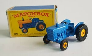 V Rare Blue Matchbox Series No. 39, Ford Tractor, - Superb Mint Condition.