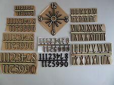 CLOCK NUMERALS. SELF ADHESIVE CLOCK NUMBERS *CHOICES* ROMAN & ARABIC (1-12)