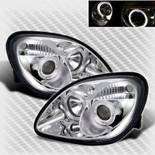 For 1998-2004 Mercedes Benz R170 SLK Dual Halo Pro Headlights Set Head Lights