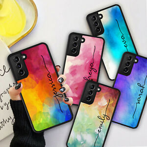 PERSONALISED NAME WATERCOLOUR Phone Hard Case Cover For iPhone 7 8 12 13 Pro Max