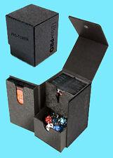 ULTRA PRO PRO-TOWER DECK BOX BLACK BOX 3 Compartment Game Card Dice Dual MTG