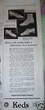 1921 Keds jTennis Shoes Make A difference in Summer Ad